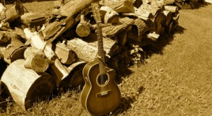 Guitar Visions of Wood by Maria Rueda